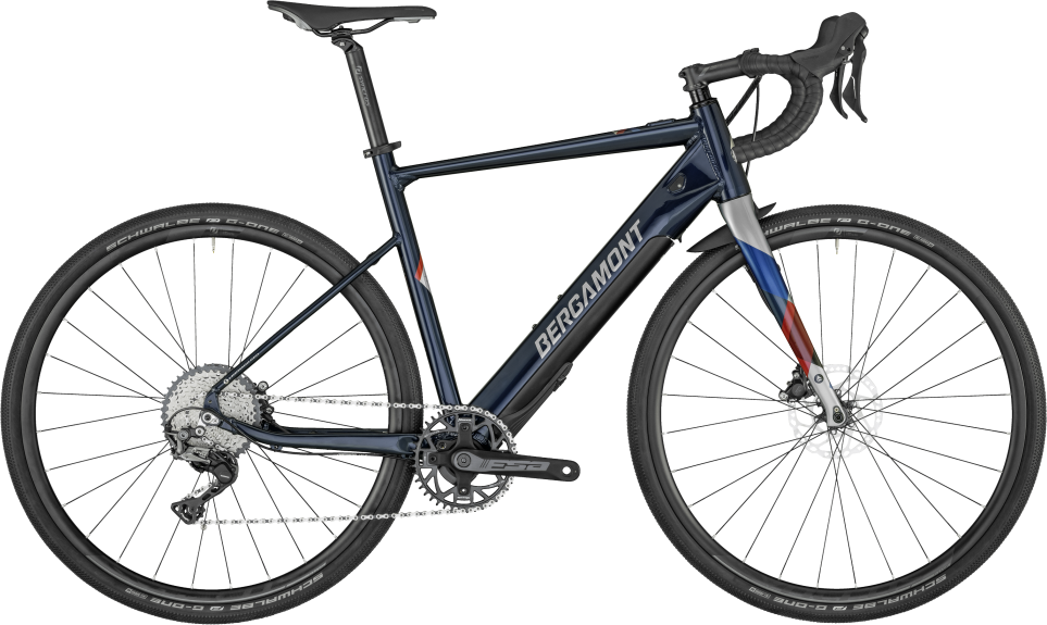 Bergamont E-Grandurance Elite - midnight blue/chrome (shiny) - 49 cm